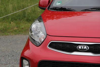 Kia Picanto Signalrot Edition 7 Scheinwerfer