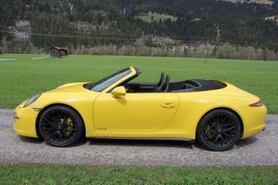 Porsche 911 GTS Cabrio Seitenansicht