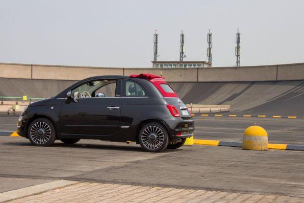 Fiat 500C 2015 Lingotto Teststrecke Steilkurve Seitenansicht