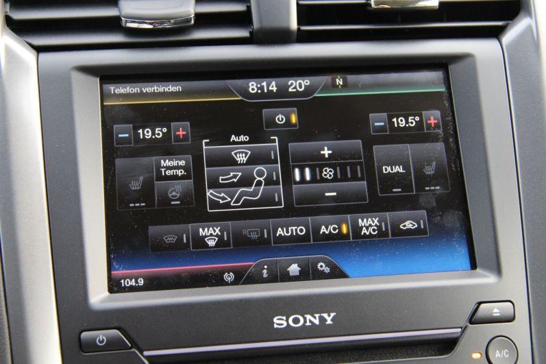Ford Mondeo 2015 Touchscreen Klimaregelung