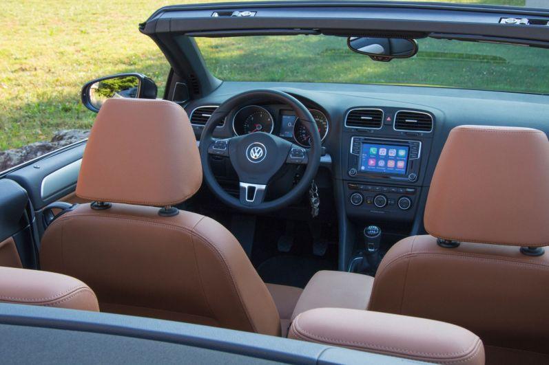 VW Golf Cabrio 2015 Innenraum Leder Trüffel