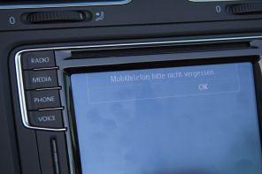 VW Golf Cabrio 2015 Mobiltelefon bitte nicht vergessen