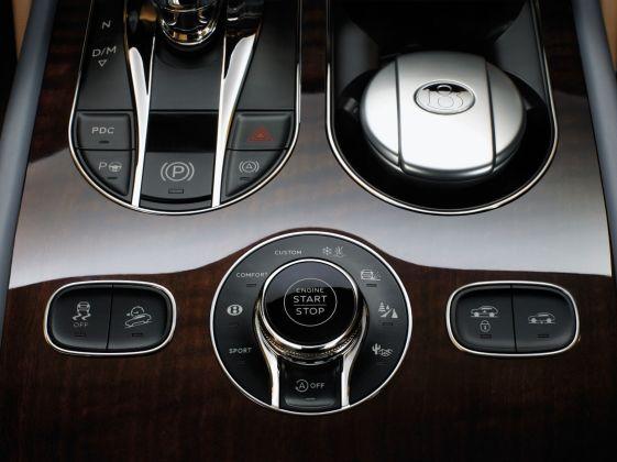 Bentley Bentayga 2015 Start-Stop-Knopf