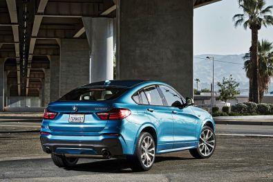 BMW X4 M40i 2015 Heck Seitenansicht
