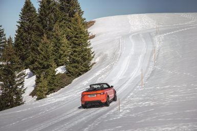 Range Rover Evoque Cabrio 2015 Schnee