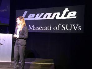 TV-Moderatorin Panagiota Petridou stellt Maserati Levante vor