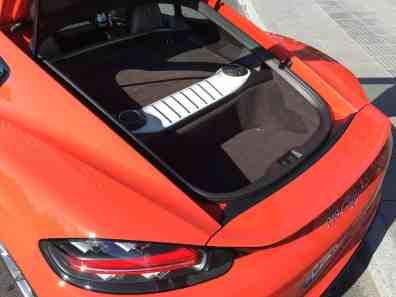 Porsche Cayman Gepäckfach hinten