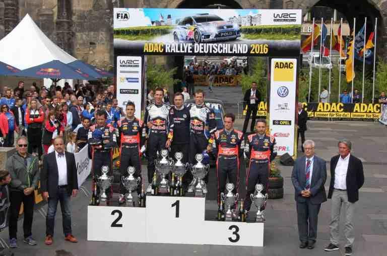 Volkswagen Pilot Sébastien Ogier gewinnt ADAC Rallye Deutschland 2016