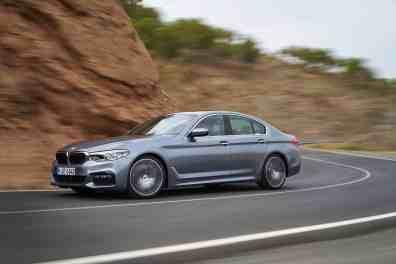 BMW 5er in Fahrt