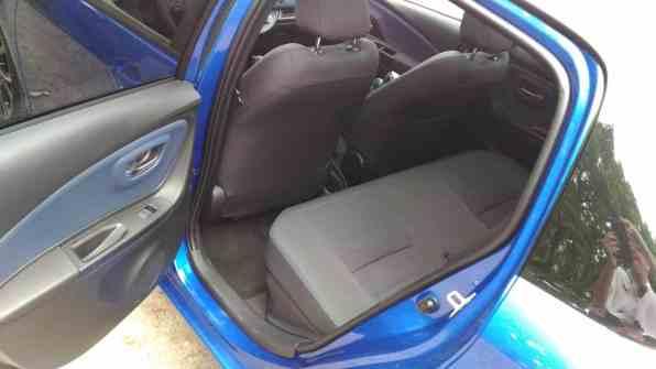 Toyota Yaris Rücksitze