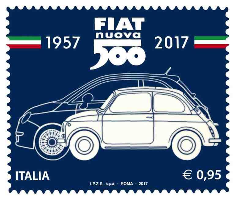Italienische Post ehrt klassischen Fiat 500 mit eigener Briefmarke