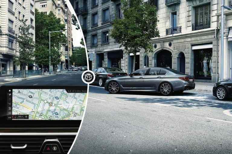 Inrix erspart Fahrern von 5er BMW die Parkplatzsuche