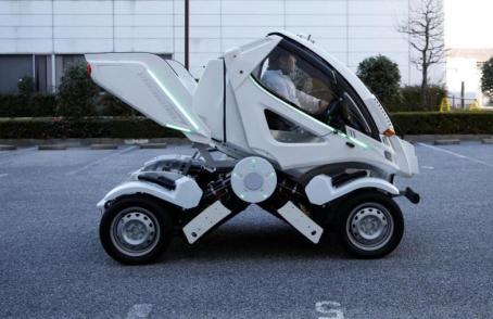 Japanisches Elektroauto Earth-1 zusammen gefaltet