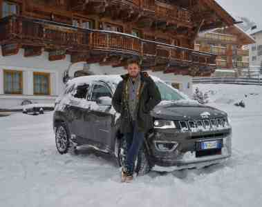 Jeep Compass Modell 2018 - Allrad-Wintertestfahrt im wilden Schneetreiben