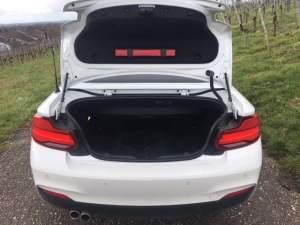 BMW 230i Cabrio, Kofferraum