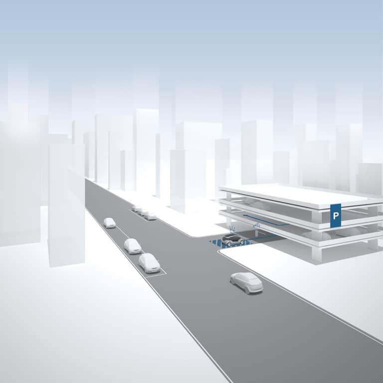 Automated Valet Parking mit e.Go: Vom Eingang aus geht es automatisch zum Parkplatz.