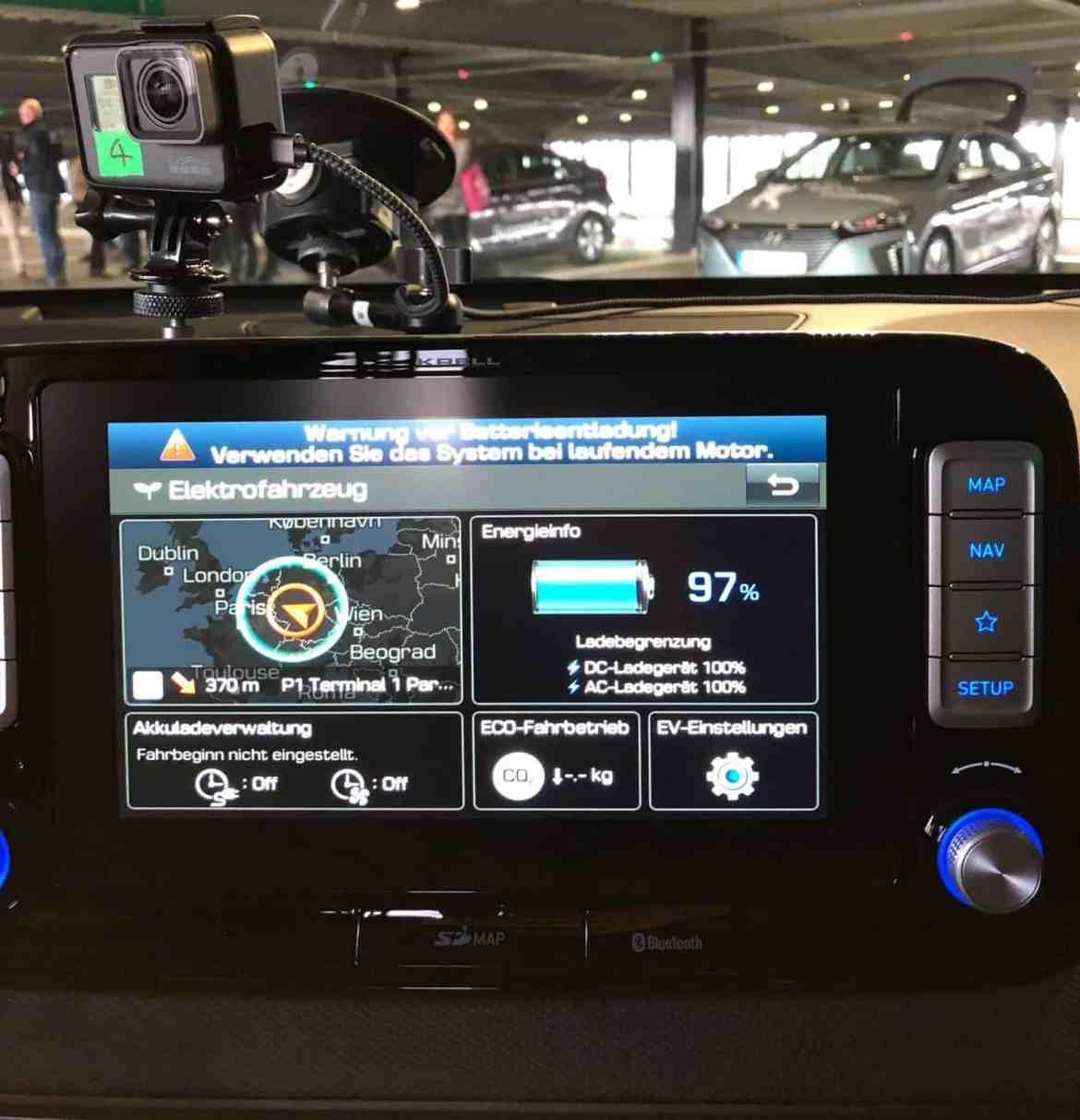 Hyundai E-Kona Display