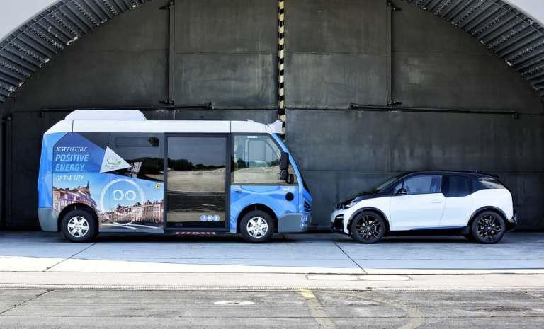 Der Antrieb aus dem BMW i3 treibt den Karsan Jest electric an.