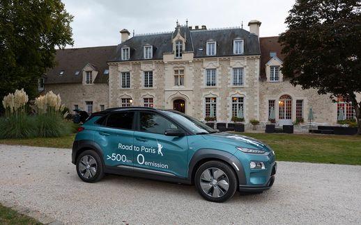 Hyundai E Kona von Frankfurt nach Paris