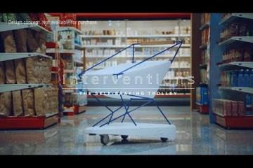 Selbstbremsender Einkaufswagen