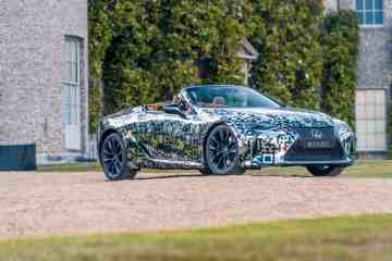 Lexus LC Cabriolet getarnt