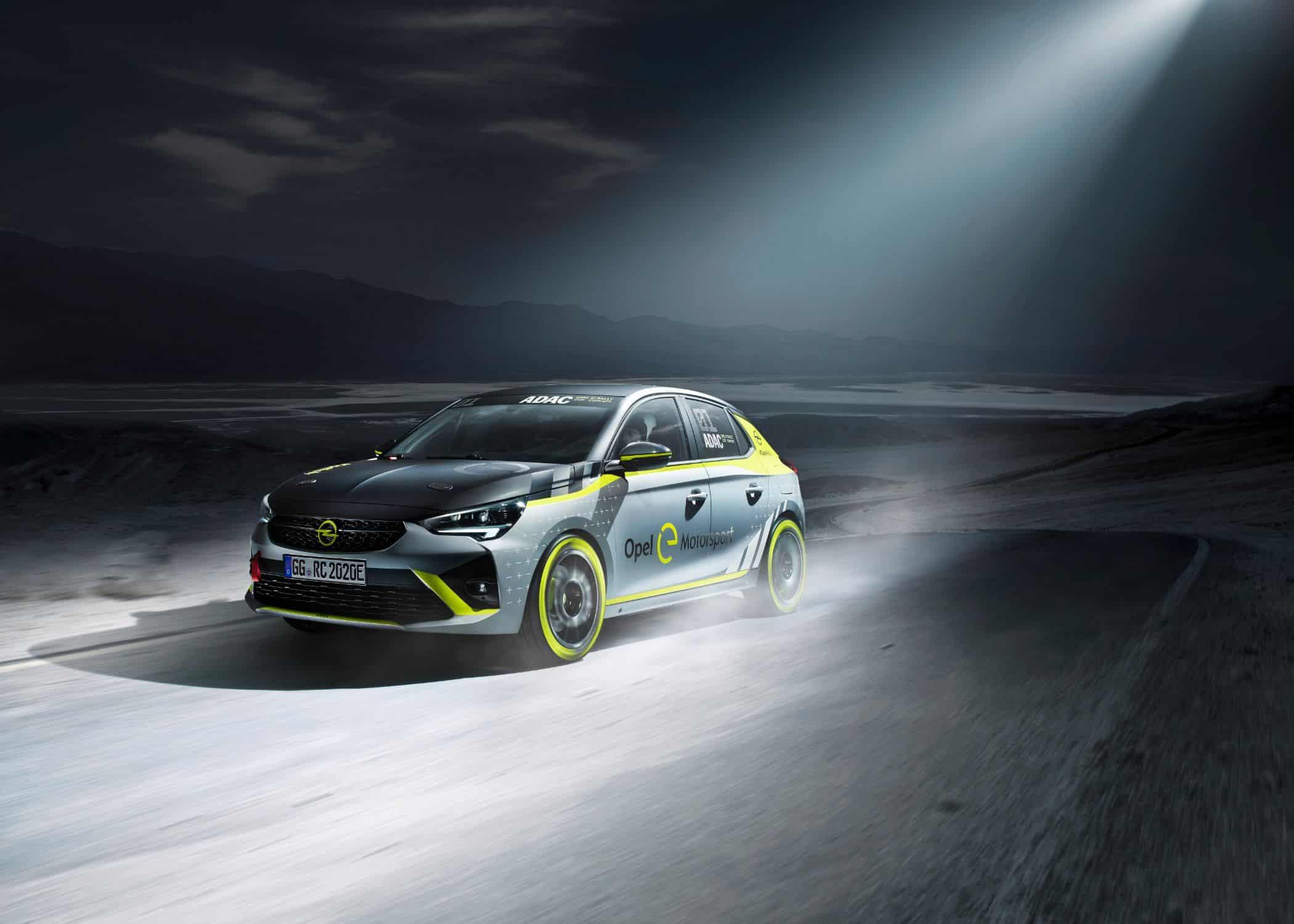 Neues batterie-elektrisches Rallyeauto auf Basis des Corsa-e