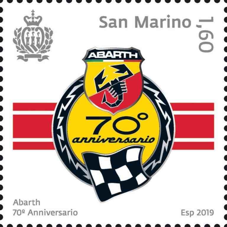 Abarth Briefmarke zum Siebzigsten