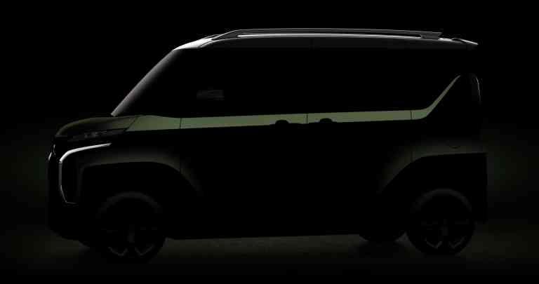 Noch nur schemenhaft: Mitsubishi Mi-Tech Concept Super Height K-Wagon Concept.