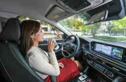 Erprobung der intelligenten Geschwindigkeitsregelanlage SCC-ML von Hyundai.