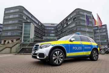 Mercedes-Benz GLC F-Cell Funkstreifenwagen.