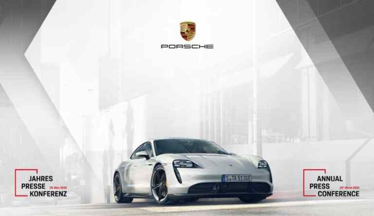 Jahrespressekonferenz von Porsche im Online-Stream