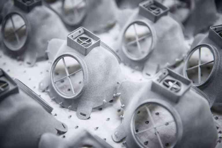 Skoda FFP3-Atemschutzmasken aus dem 3D-Drucker.