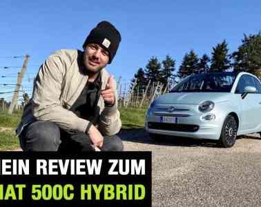 Neue Fiat 500 C Hybrid Cabrio (70 PS) - Fahrbericht im Video