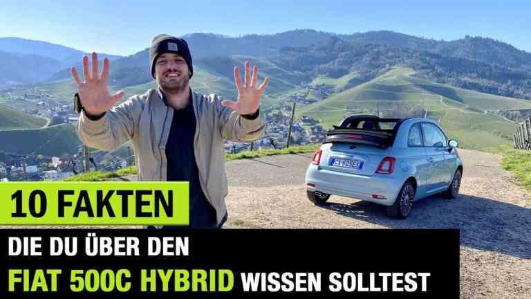 10 Fakten, die Du über den Fiat 500 C Hybrid wissen solltest! , Jan Weizenecker
