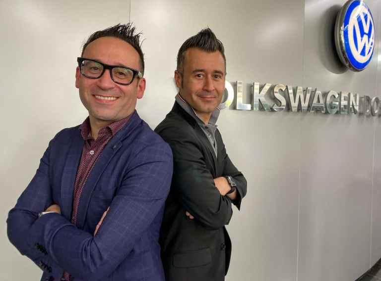 VW-Designer-Zwillinge José Carlos - JC - und Marco (re.) Pavone.