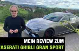 2020 Maserati Ghibli Gran Sport - Eine Limousine für Gentlemen?! Fahrbericht | Review | Test | Sound, Dr Friedbert Weizenecker