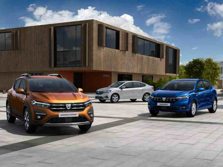 Dacia erneuert Sandero, Sandero Stepway und Logan