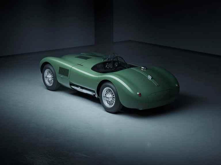 Jaguar C-Type Continuation als 3-D-CAD-Modell.