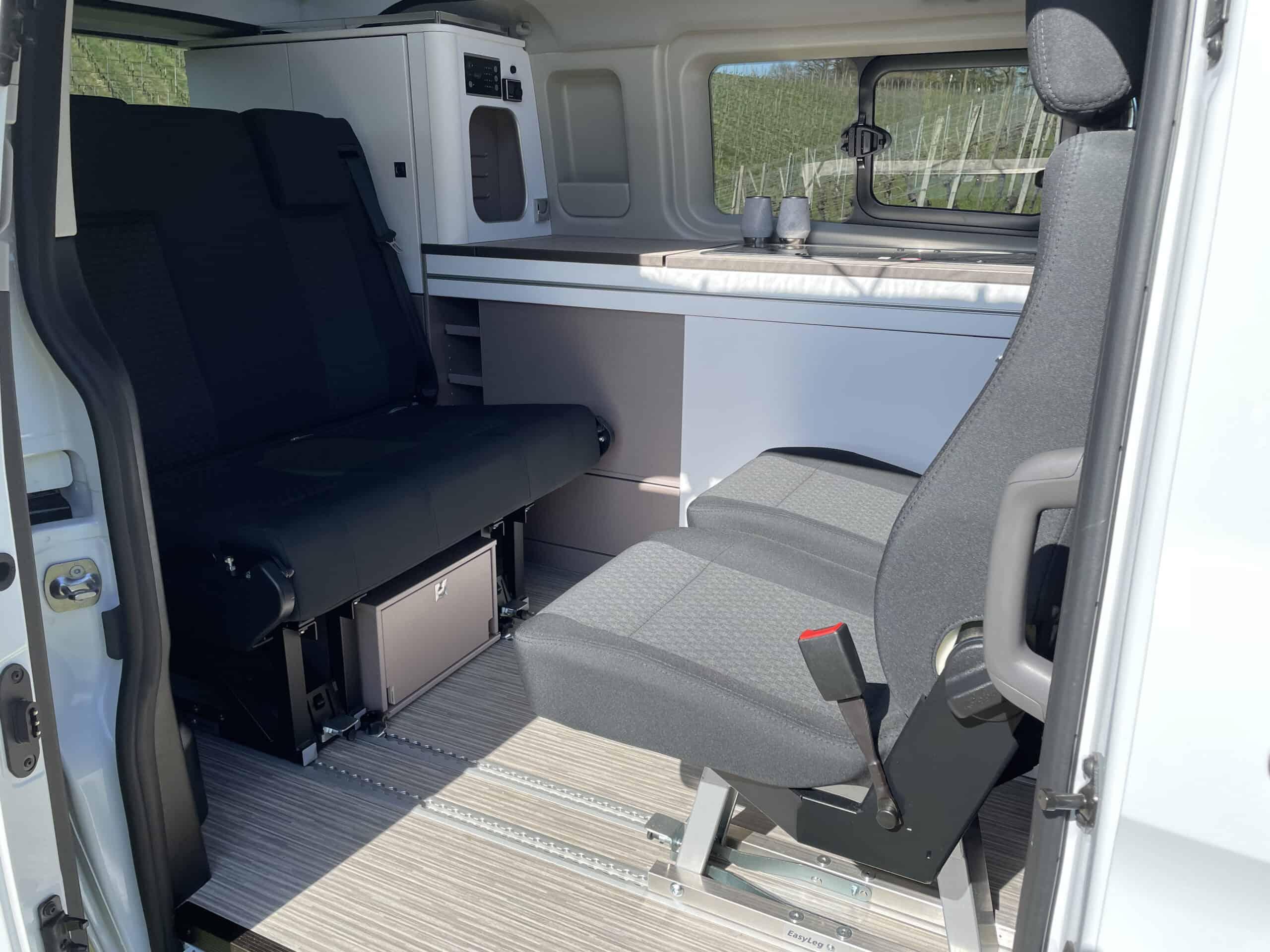 Bürstner Copa - Neuer CamperVan auf Ford Transit Basis, Einzelsitze
