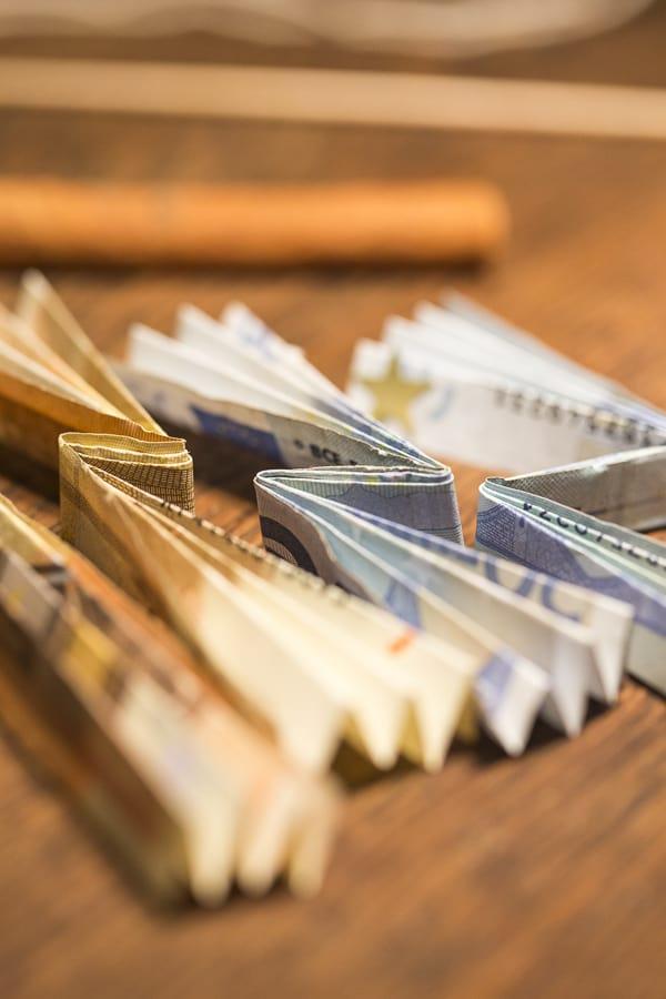 DIY Geldbaum Geldscheine falten