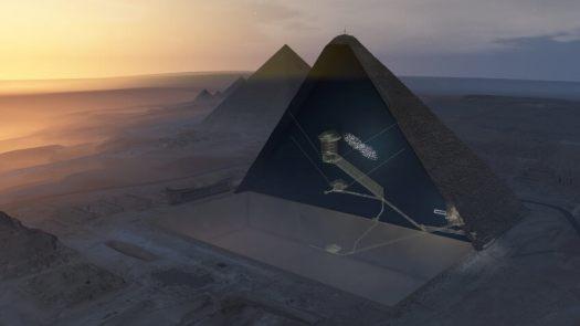 Hohlräume in der großen Pyramide
