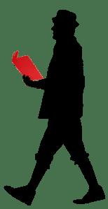 Der Lesemann Transparent vom Logo der geschützten Bild-Marke