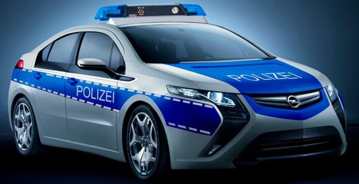 der opel ampera als polizeifahrzeug