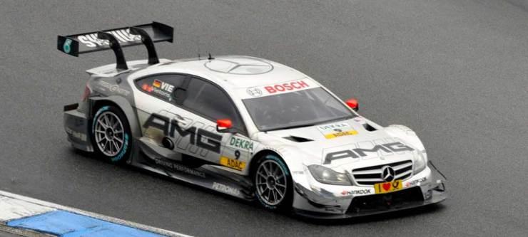 Vierte wurde Christian Vietoris im DTM Mercedes AMG C-Coupe, Team AMG