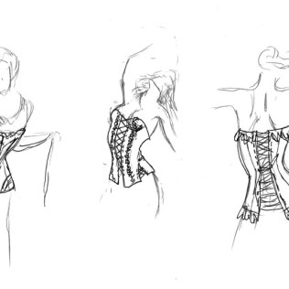 Dessous Shop Interdor Design, Ladendesign, Innenarchitektur, Portfolio Sketch
