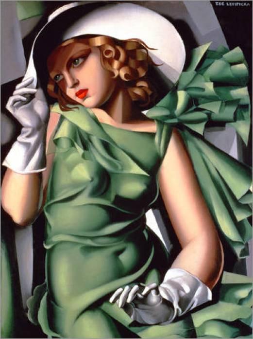 poster-junge-dame-mit-handschuhen-66797