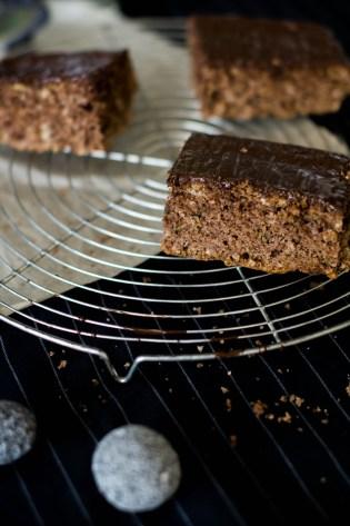 Zuchini Kuchen mit Schokolade