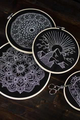 sticken-embroyding-stitching-schwarz-weiss-black-white-mandala-adventure-nature-blackwork-10