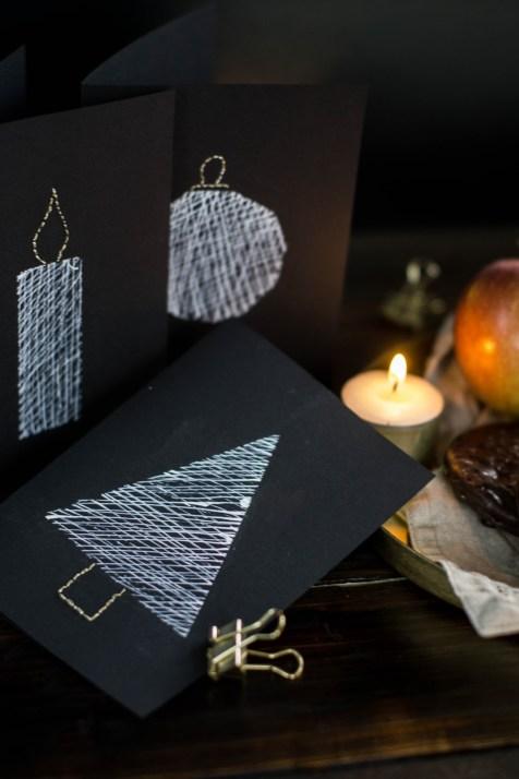 diy-einfache-weihnachtskarten-schwarz-weiss-gold-sticken-bestickt-christmascards-5