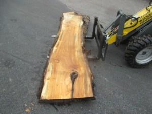 Tischplatte aus Massivholz Pappel S-00058